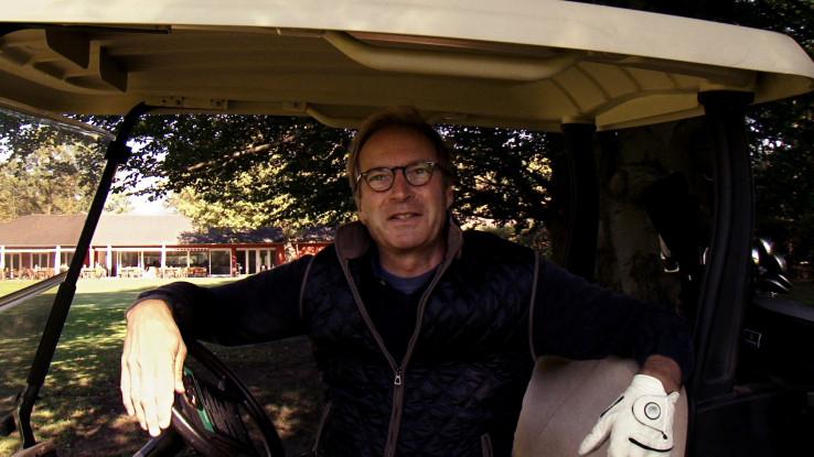 Paul Bauwens-Adenauer auf dem Golfplatz. Foto: Anna Ditges Köln 2014