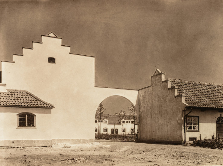 Etzelstraße, Durchgang zum Irnfriedweg, Nibelungensiedlung, Kö
