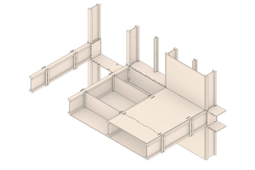 "Detail des Holzbausystems ""SimpliciDIY"". © Atelier SLOW"