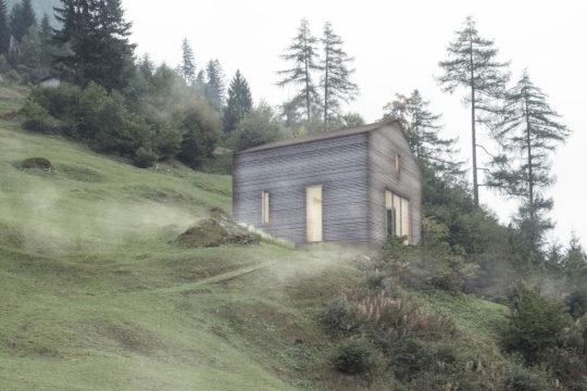 """Entwurf für ein Haus für eine Person mit dem Holzbausystem """"SimpliciDIY"""". © Atelier SLOW"""