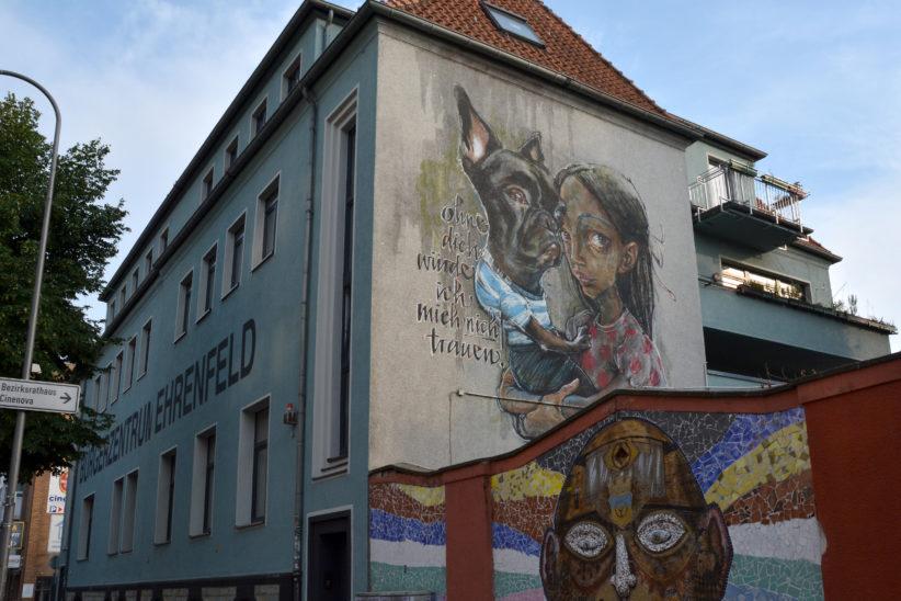 """""""Ohne dich würde ich mich nicht trauen"""" von Herakut am Bürgerzentrum in der Venloer Straße. Entstanden beim Cityleaks-Festival 2011. Foto: Vera Lisakowski"""
